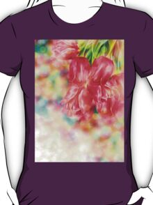 Bokeh Background with Tulips T-Shirt