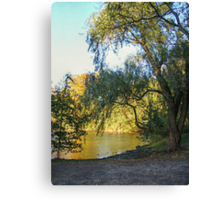 On Golden Waters, the Pocantico River  Canvas Print