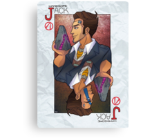 Handsome Jack card Canvas Print