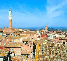 Siena Roofs by Corina Daniela Obertas
