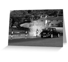 Morris Minor and the Waves !! Greeting Card