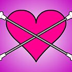 Heart Baton Twirling 2 Design  by Sookiesooker