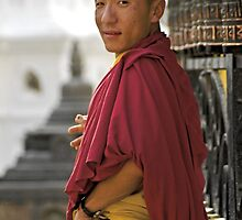 Buddhist monk by Konstantinos Arvanitopoulos