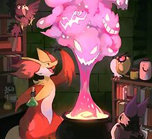 Witch Fox by bluekomadori