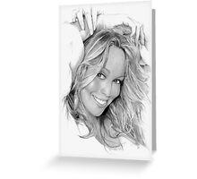 Mariah Carey Greeting Card