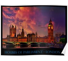 Houses of Parliament - London Poster