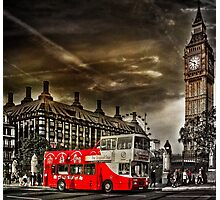 London Sightseeing Tours bus Photographic Print