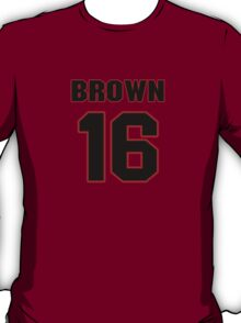 NFL Player Philly Brown sixteen 16 T-Shirt