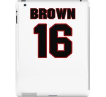 NFL Player Philly Brown sixteen 16 iPad Case/Skin