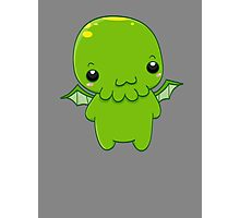 chibi cthulhu - the green monster Photographic Print