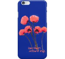 pink poppies iPhone Case/Skin