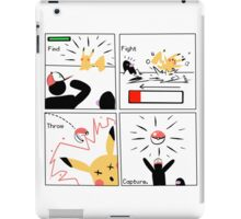 Find, Fight, Throw, Capture. iPad Case/Skin