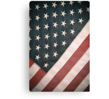 Retro USA Flag Canvas Print