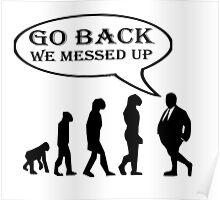 GO BACK (SURVIVAL OF THE FATTEST) Poster