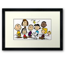 Peanuts all the best Framed Print