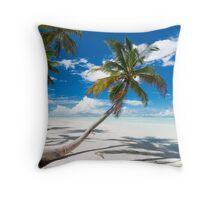 Canoe Beach II - Cocos (Keeling) Islands Throw Pillow
