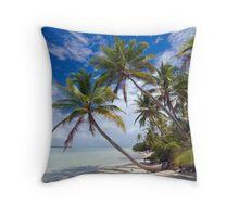 Canoe Beach Palms - Cocos (Keeling) Islands Throw Pillow
