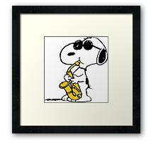 Snoopy sax Framed Print