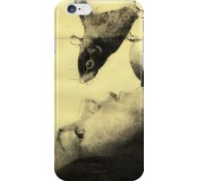 Girl and a Rat iPhone Case/Skin