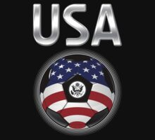 USA - American Flag - Football or Soccer Ball & Text by graphix