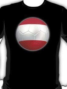 Austria - Austrian Flag - Football or Soccer 2 T-Shirt