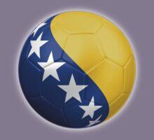Bosnia and Herzegovina - Bosnian Flag - Football or Soccer 2 Kids Clothes