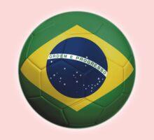Brazil - Brazilian Flag - Football or Soccer 2 Kids Clothes