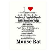 Parks and Recreation - I <3 Mouse Rat Art Print