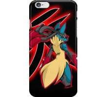 Mega Lucario - Satsui no Hado iPhone Case/Skin