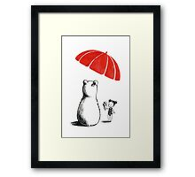 Polar bear at the beach Framed Print