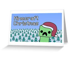 Minecraft - Christmas (A Perfect Gift) Greeting Card