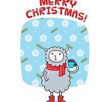 Cozy Winter Lamb by shizayats