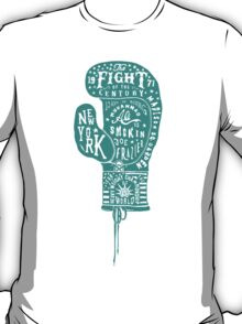 Boxing Glove Typography - the Fight of the Century - green T-Shirt