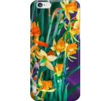 ABSTRACT DAFFODILS IN ORANGE iPhone Case/Skin