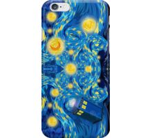Space and time traveller phone box Starry the night Cartoons iPhone Case/Skin
