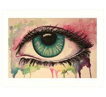 Watercolour Eye Art Print