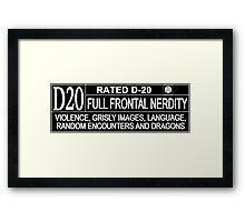 This Gamer is Rated D20 Framed Print