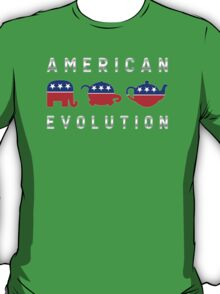 American Evolution - Republican to Tea Party T-Shirt