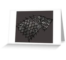 House Stark Sigil from Game of Thrones Greeting Card
