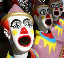 Laughing clowns by Tessa Manning