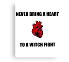 Witch Fight Heart Canvas Print