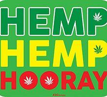 Hemp Hemp Hooray Rasta Rastafarian Green by LGdesigns