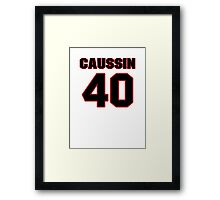 NFL Player Mike Caussin forty 40 Framed Print