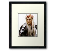 Flower Crown Thranduil Framed Print