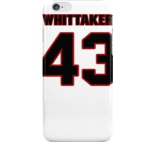NFL Player Fozzy Whittaker fortythree 43 iPhone Case/Skin