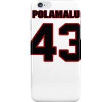 NFL Player Troy Polamalu fortythree 43 iPhone Case/Skin
