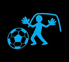 GOALIE with soccer ball making a save by jazzydevil
