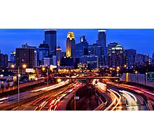 Minneapolis Saturday Night Photographic Print