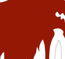 Red Wedding Sticker