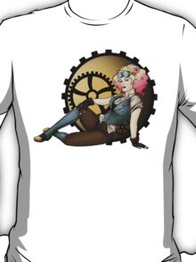 Steampunk Pilot Pinup Girl T-Shirt
